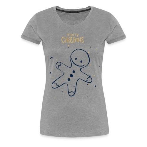 Weihnachten Plätzchenfigur - Frauen Premium T-Shirt