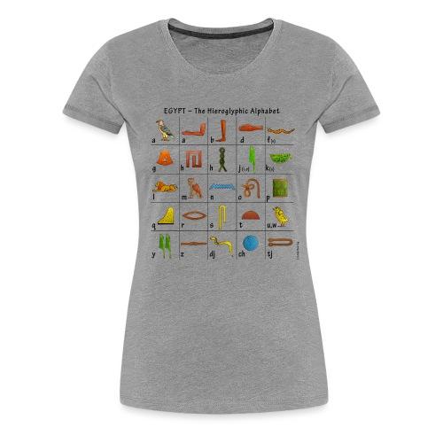 Ägyptisches Alphabet - Frauen Premium T-Shirt