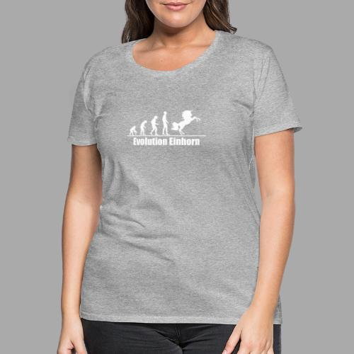 Evolution Einhorn - Frauen Premium T-Shirt