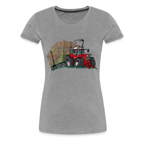 rode_trekker_hooi - Vrouwen Premium T-shirt