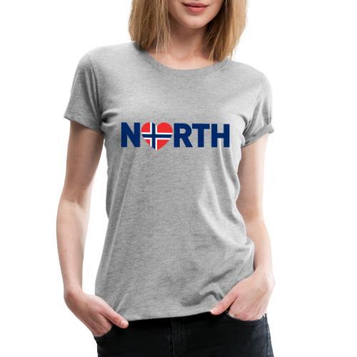 Nord-Norge på engelsk - plagget.no - Premium T-skjorte for kvinner