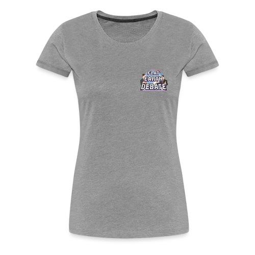 Flat Earth Debate Solid - Women's Premium T-Shirt