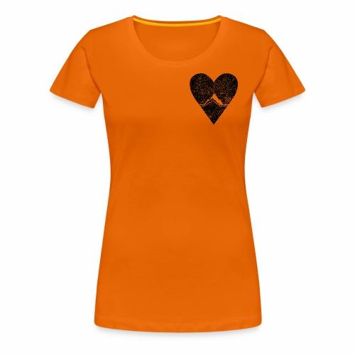 Bergliebe - used / vintage look - Frauen Premium T-Shirt