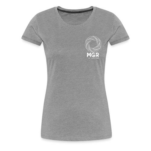 mgr logo circle white top - T-shirt Premium Femme