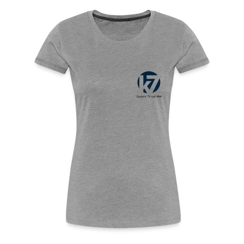 studenttv sort font gif - Premium T-skjorte for kvinner