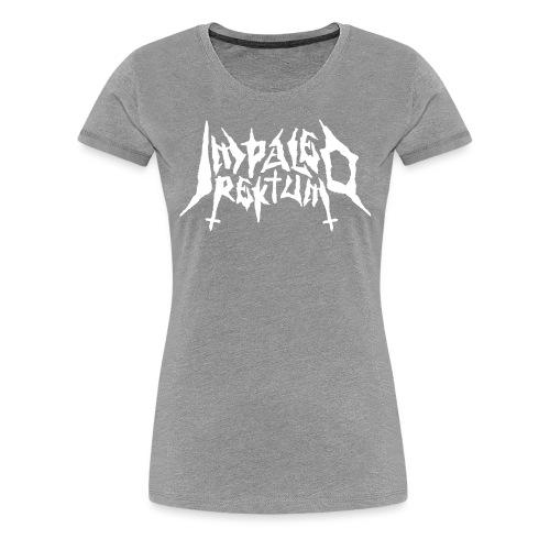 Impaled Rektum -logo shirt - Naisten premium t-paita