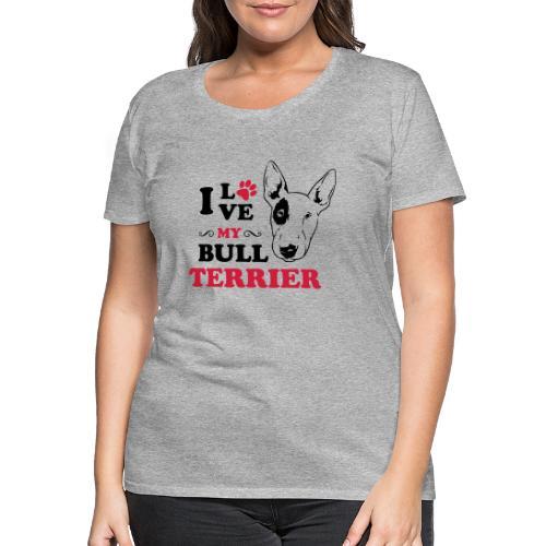 I love my Pitbull Terrier - Frauen Premium T-Shirt