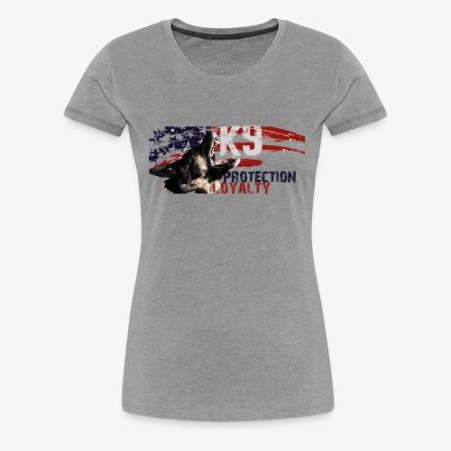 K9 CARDI USA PROTECTION - Women's Premium T-Shirt