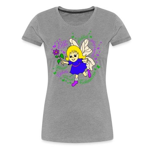 Elfe Traeume in Lila - Frauen Premium T-Shirt