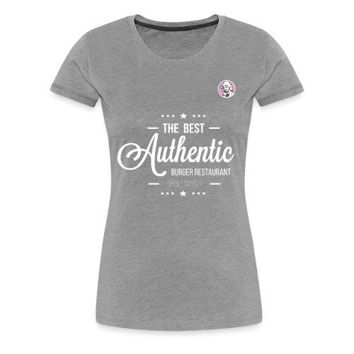 the best authentic burger gj - T-shirt Premium Femme