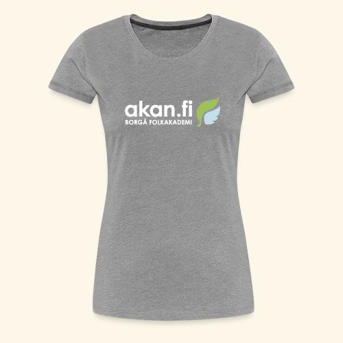 Akan White - Premium-T-shirt dam