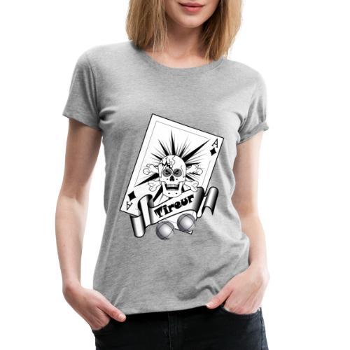 t shirt petanque tireur crane carreau boules - T-shirt Premium Femme
