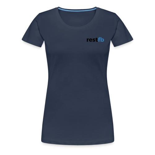RestFB logo black - Women's Premium T-Shirt