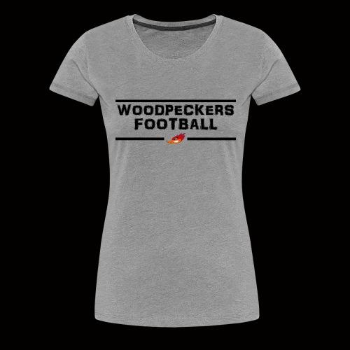 woodpeckersfootball2 - Frauen Premium T-Shirt
