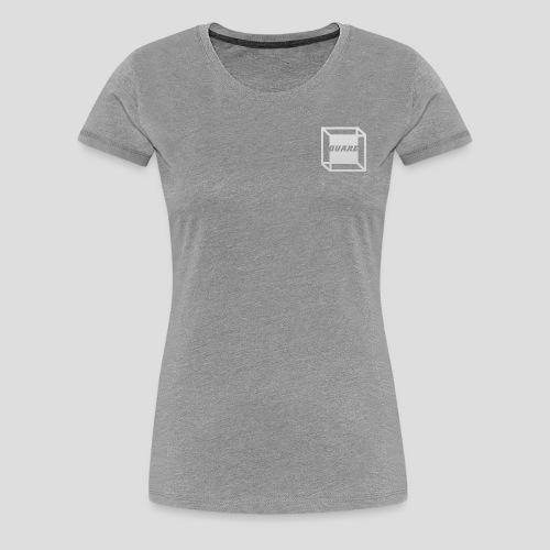 Squared Apparel Logo White / Gray - Women's Premium T-Shirt