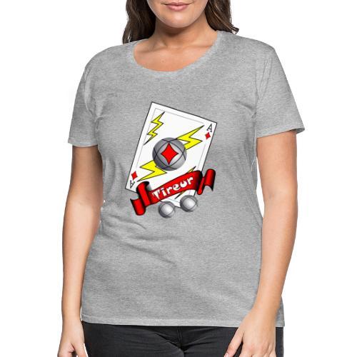 t shirt petanque tireur as du carreau boules - T-shirt Premium Femme