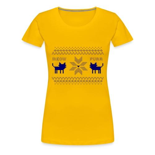 christmas navy - Camiseta premium mujer