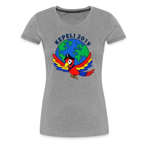 kepeli2019 logo - Naisten premium t-paita