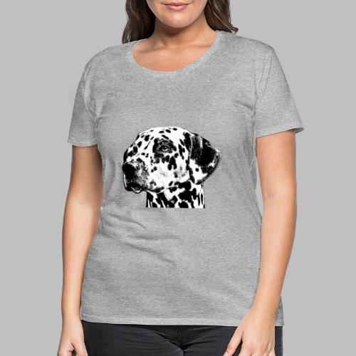 Dalmatiner Kopf Hund - Frauen Premium T-Shirt