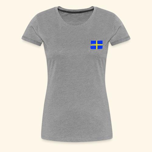 Swedish flag in Watercolours - Premium-T-shirt dam