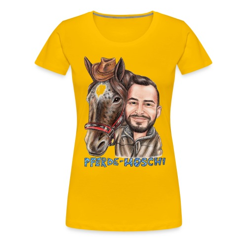 Pferde-Hoschi Kollektion hinten - Frauen Premium T-Shirt