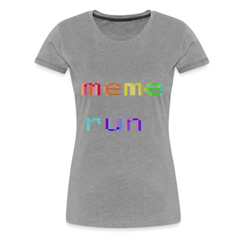 meme run logo - Women's Premium T-Shirt
