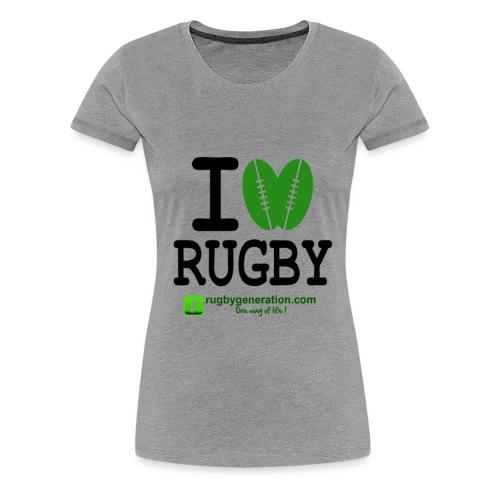 ILoveRugby png - T-shirt Premium Femme