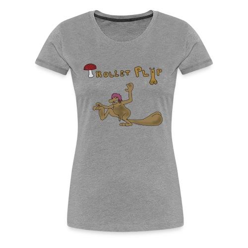 Trollet Pläp t shirt 1 png - Premium-T-shirt dam