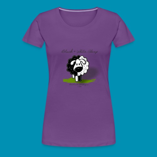 B W Sheep green png - Maglietta Premium da donna