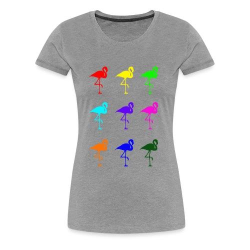 RAINBOW FLAMINGO - Women's Premium T-Shirt