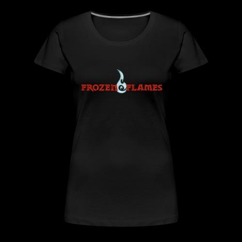 Frozen Flames Logo Schrift Pixel - Frauen Premium T-Shirt