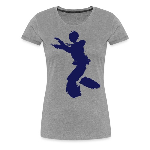Wing Chun / Kung Fu Tusche Figur VEKTOR - Women's Premium T-Shirt