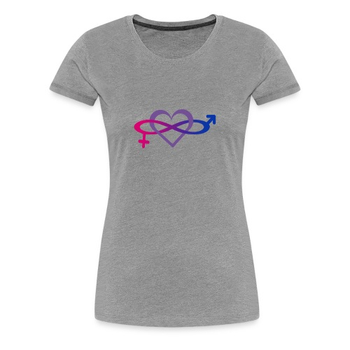 bisexual symbol by scorpionskiss666 d5z5i3m png - Women's Premium T-Shirt