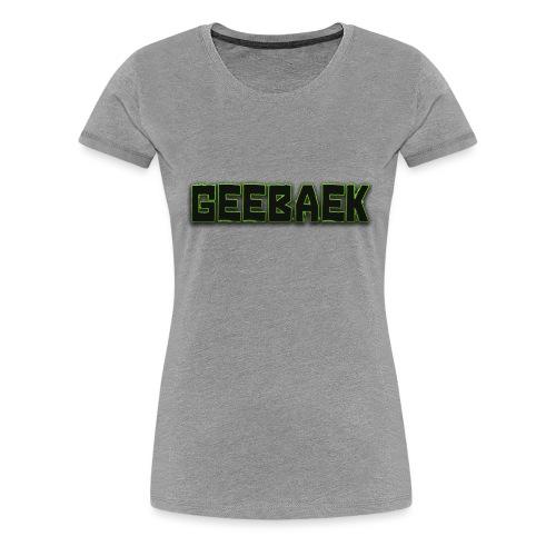 Geebaek - Dame premium T-shirt