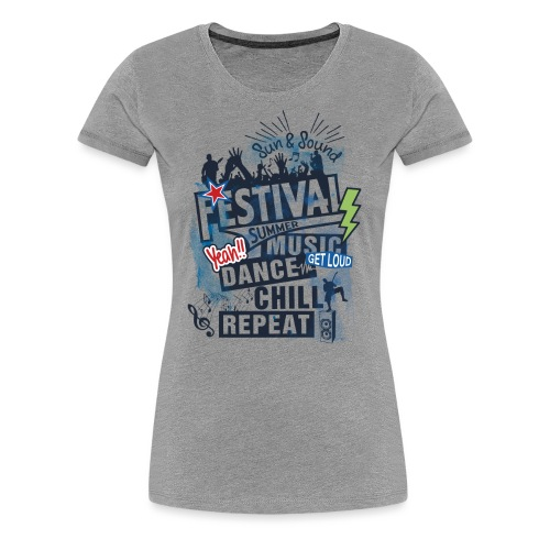 Festival_Summer Music - Frauen Premium T-Shirt