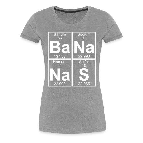 Ba-Na-Na-S (bananas) - Full - Women's Premium T-Shirt