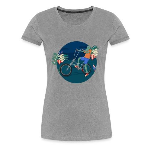 Bike Crocodile - Camiseta premium mujer