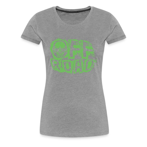 11A-13 OFF ROAD SKULL Textiles and gift products - Naisten premium t-paita