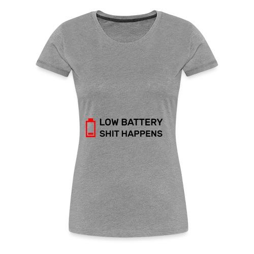 Batterie Leer - Frauen Premium T-Shirt