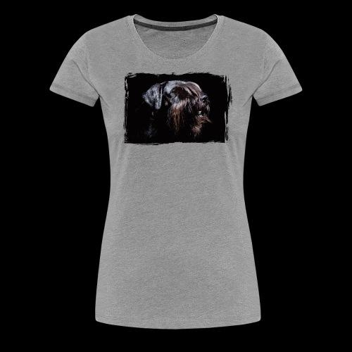 Schnauzerportrait - Frauen Premium T-Shirt