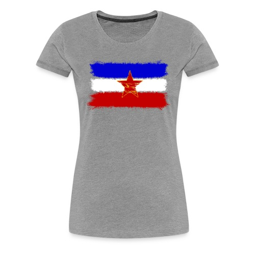 Jugoslawien Flagge - Frauen Premium T-Shirt