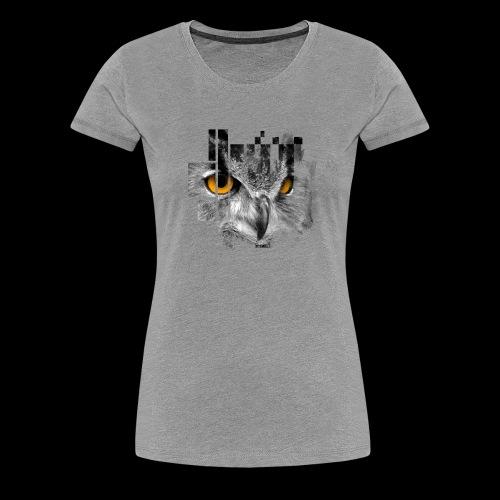 Owl pixel - Women's Premium T-Shirt