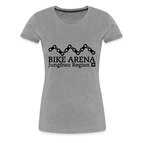 Bike Arena Black Rider - Frauen Premium T-Shirt