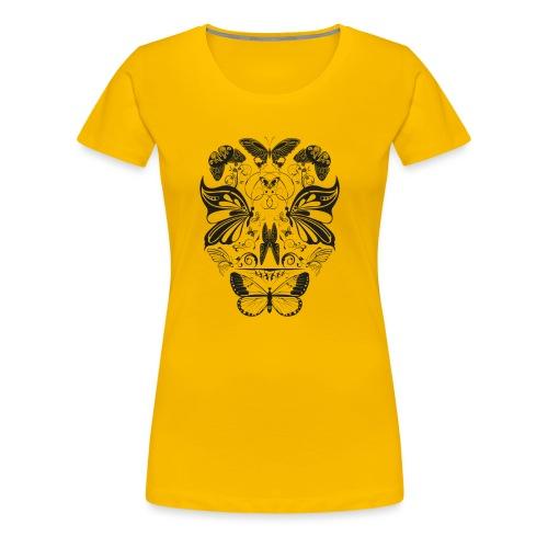 Butterfly skull face black - Women's Premium T-Shirt
