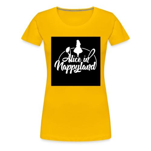 Alice in Nappyland TypographyWhite 1080 - Women's Premium T-Shirt