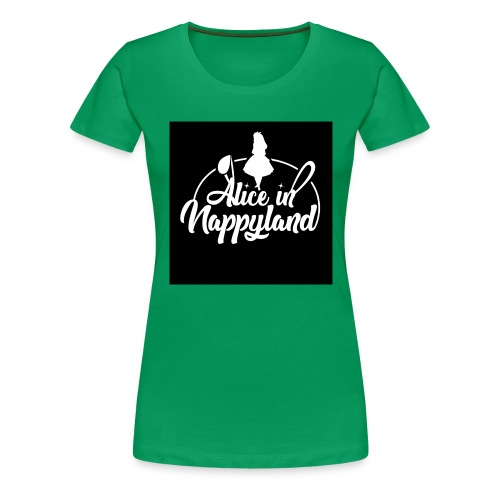 Alice in Nappyland TypographyWhite 1080 - Women's Premium T-Shirt