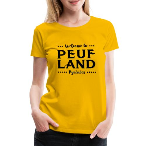 Peuf Land Pyrénées - Black - T-shirt Premium Femme