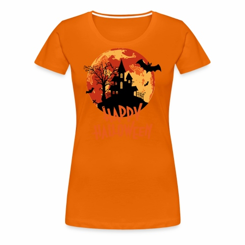 Bloodmoon Haunted House Halloween Design - Frauen Premium T-Shirt