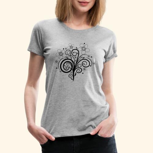 Blumenranke, Blumen, Blüten, floral, Ornamente - Frauen Premium T-Shirt