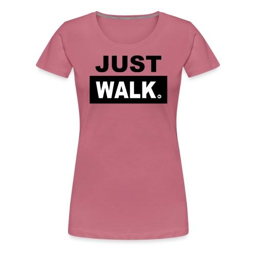 JUST WALK vrouwen zw - Vrouwen Premium T-shirt